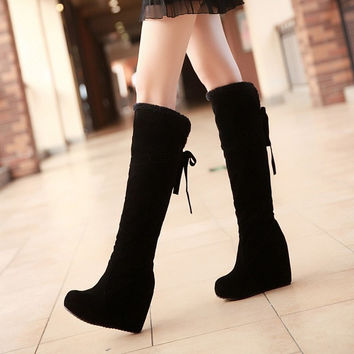 2014 New Long Boots Over The Knee Snow Boots For Women Winter Boots Shoes,EUR Size 34-39, = 1946448196