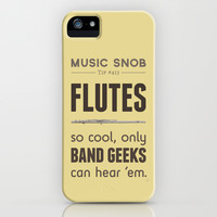 MORE Flutes — Music Snob Tip #413.5 iPhone & iPod Case by Elizabeth Owens