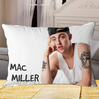 Mac Miller on Rectangle Pillow Cover