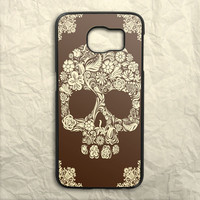 Floral Skull Painting Art Design Samsung Galaxy S6 Case