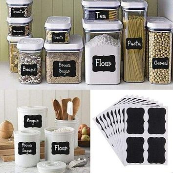 36pcs 5cm x 3.5cm Decor Chalkboard for Labeling Jars