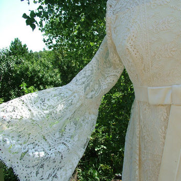 Wedding dress vintage 1970s Jessica m by RetroVintageWeddings
