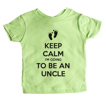 Keep Calm I'm Going To Be An Uncle Baby Tee