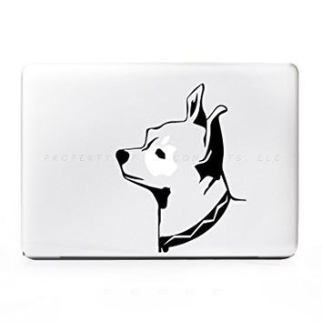 Chihuahua Dog Head Sticker Decal For MacBook Pro, PC, Laptop, Window, Car, or Wall