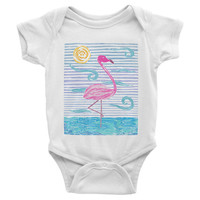 Flamingo Baby Bodysuit