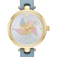kate spade new york holland pinwheel leather strap watch, 34mm | Nordstrom