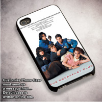 Breakfast Club Poster - For iPhone 4/ 4S/ 5/ 5S/ 5SE/ 5C/ 6/ 6S/ 6 PLUS/ 6S PLUS/ 7/ 7 PLUS Case And Samsung Galaxy Case