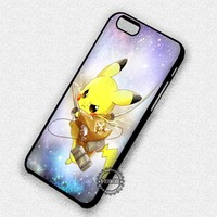 Pikachu Attack on Titan Pokemon Cute - iPhone 7 6 Plus 5c 5s SE Cases & Covers