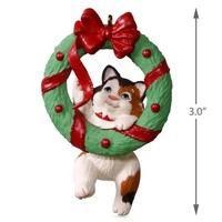Mischievous Kittens Wreath Ornament