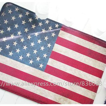 Autumn Fall welcome door mat doormat Front  bathroom mat/soft warm strong water absorption Restore ancient ways the flag USA carpet with anti-slip back AT_76_7