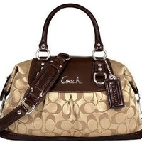 # Coach Signature Ashley Sabrina Satchel Duffle Bag Purse Tote 15443