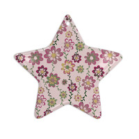 "Nika Martinez ""Romantic Flowers in Pink"" Blush Floral Ceramic Star Ornament"