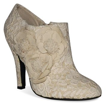 Dolce by Mojo Moxy Flora Women's Lace High Heel Shooties