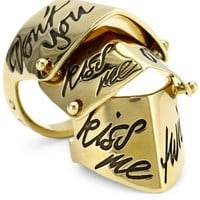 Vivienne Westwood Kiss Me Twice Armor Ring, Size 8