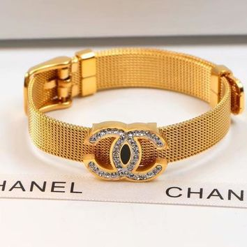Double C New Arrival Bracelet With Full Diamonds Bangles