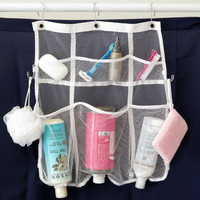 Evelots® Quick-Dry Hanging Shower Caddy With Dispenser Pockets, 6 Pockets, White