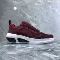 HCXX N979 2019 Nike Air Max Fly MD Big Logo Breathable Running Shoes Wine Red