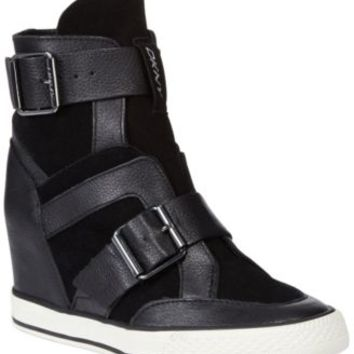 DKNY Cala Wedge Sneakers - Shoes - Macy s from Macys f31cc1bda