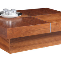 Abby Rectangle Coffee Table Natural Walnut