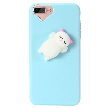 Anti Stress Squishy Cat Cellphone Case for iPhones