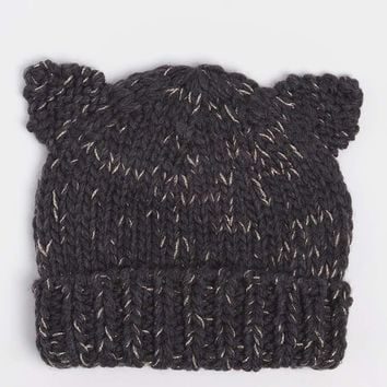 Charcoal Cat Ears Beanie Hat | Dorothyperkins