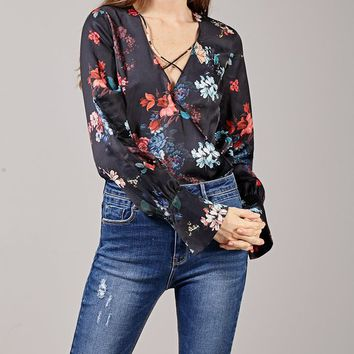 Wrapover bodysuit - BODIES - WOMAN | Stradivarius United Kingdom
