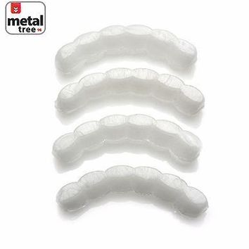 Jewelry Kay style Men's Hip Hop Molding Wax Fitting Silicone Fixing Bar Bottom Teeth Grillz 4Pcs