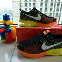 """""""Nike"""" Fashion Casual Male Female Breathable Comfortable Air Cushion Fly Line Weave Couple Sneakers Running Shoes"""