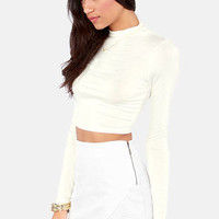 Crop! In the Name of Love Ivory Crop Top