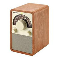 AM FM Wooden Radio Walnut