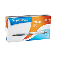 Paper Mate® InkJoy™ 700RT Retractable Ballpoint Pens, Medium Point, 1.0 mm, White Barrels, Blue Ink, Pack Of 12 Item # 645252