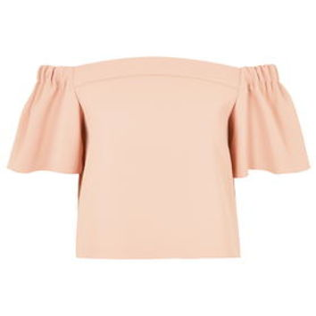 Structured Bardot Top - Salmon