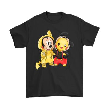 PEAPINY Friendship Pikachu And Mickey Mouse Mashup Shirts