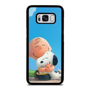 SNOOPY AND CHARLIE BROWN THE PEANUTS Samsung Galaxy S3 S4 S5 S6 S7 Edge S8 Plus, Note 3 4 5 8 Case Cover
