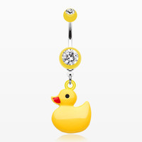 Classic Yellow Ducky Belly Button Ring