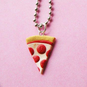Pizza Necklace  Pepperoni Pizza By Babylovespink On Etsy