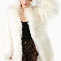 Iced Mongolian Lamb Fur Coat