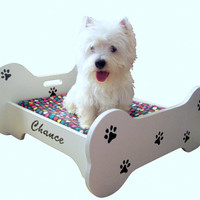Custom Made Personalized Wooden Dog Bed