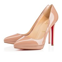 Cl Christian Louboutin Pigalle Plato Nude Patent Leather 120mm Stiletto Heel Classic - Best Online Sale