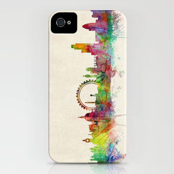 London Skyline Watercolor iPhone & iPod Case by ArtPause