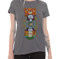 Cartoon Hangover Bravest Warriors Soft Tacos Inside Girls T-Shirt