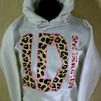 ONE DIRECTION~ HOODIE~SWEATSHIRT/PULLOVER Boy Band Fan ~ with ANIMAL Print~ NEW