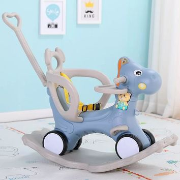 Baby Rocking Chair Baby Rocking Horse Wooden Multifunctional Musical Ride On Toys