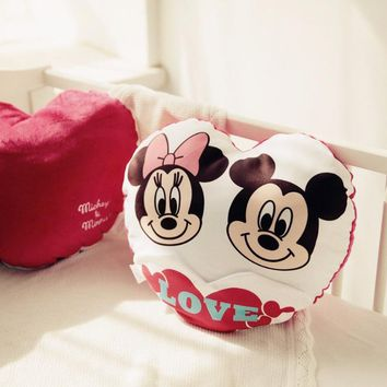 Cute Plush Pillow - Free Shipping - Kawaii Mickey and Minnie Mouse