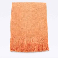 Essenza Fine Knit Throw in Peach - Urban Outfitters