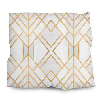 Golden Geo Outdoor Cushions