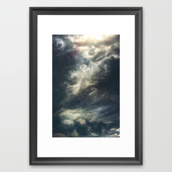Cloudio di porno II Framed Art Print by HappyMelvin