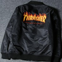 DCCKUN2 Thrasher Unisex Cardigan Jacket Coat