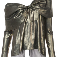 Johanna Ortiz One Shoulder Bow Blouse - Farfetch