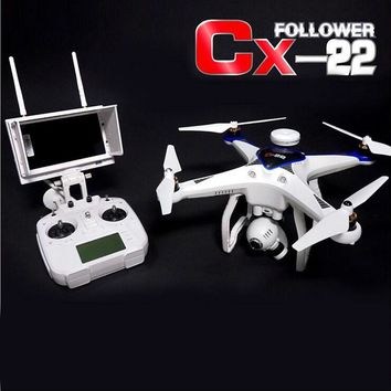 Professional Quadcopter CX-22 2.4GHZ 6 Axis 5.8G FPV RC Helicopter Drone In Dual GPS Track With HD Camera VS TALI H500